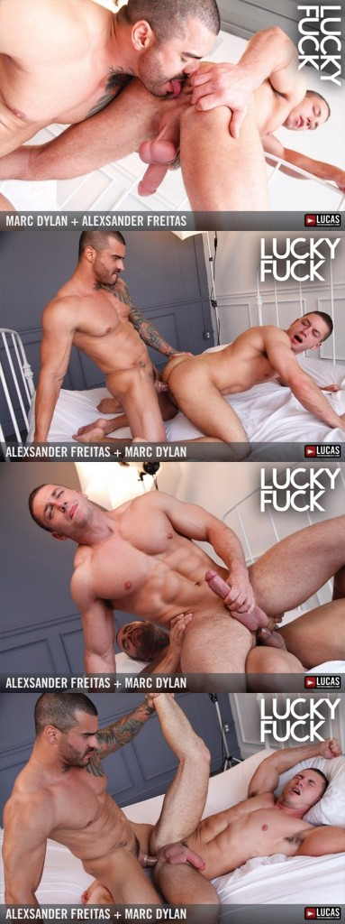 Alexsander Freitas Marc Dylan Muscle Bottom Gets Fucked in the  ass 02 vert 383x1024 - Marc Dylan worships Alexsander Freitas Cock