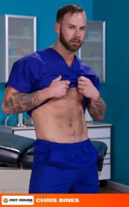 Hothouse Medical nurse doctor Chris Bines handsome Alex Mecum fucking butt guy bottom massive thick cock monster hairless ass hole rimming 02 gay porn star sex video gallery photo 187x300 - JP Dubois keeps his fist deep in Brandon Moore as his jerks his fat uncut cock
