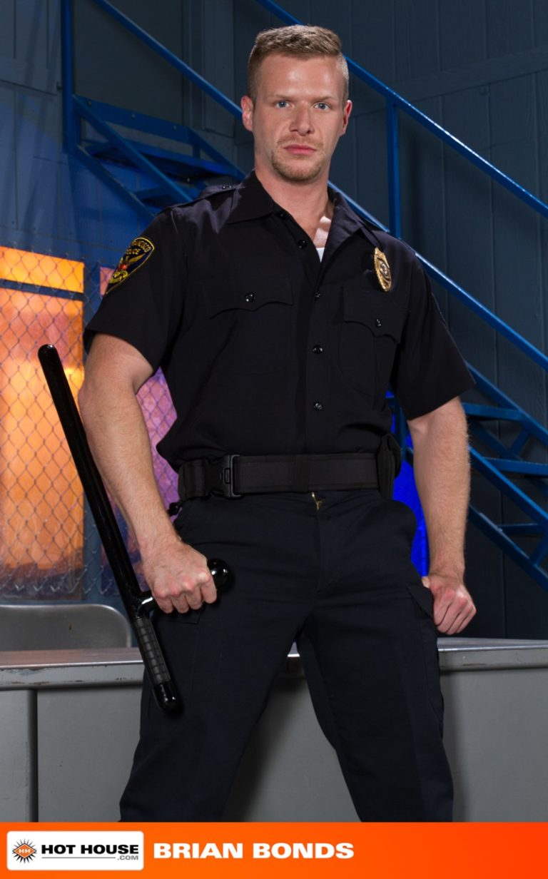 Hothouse naked police officers uniform Johnny V Brian Bonds stroking big thick cock sex hungry cops spreads ass wide open fucking ass hole 002 gay porn sex gallery pics video photo 768x1232 - Johnny V fucks Officer Brian Bonds' tight muscled ass hole
