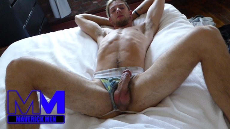 MaverickMen Maverick Men blonde long hair nude dude Anthony anal fucking fingering asshole cum bucket jizz eating 001 gay porn sex gallery pics video photo 768x432 - Maverick Men Anthony's anal odyssey