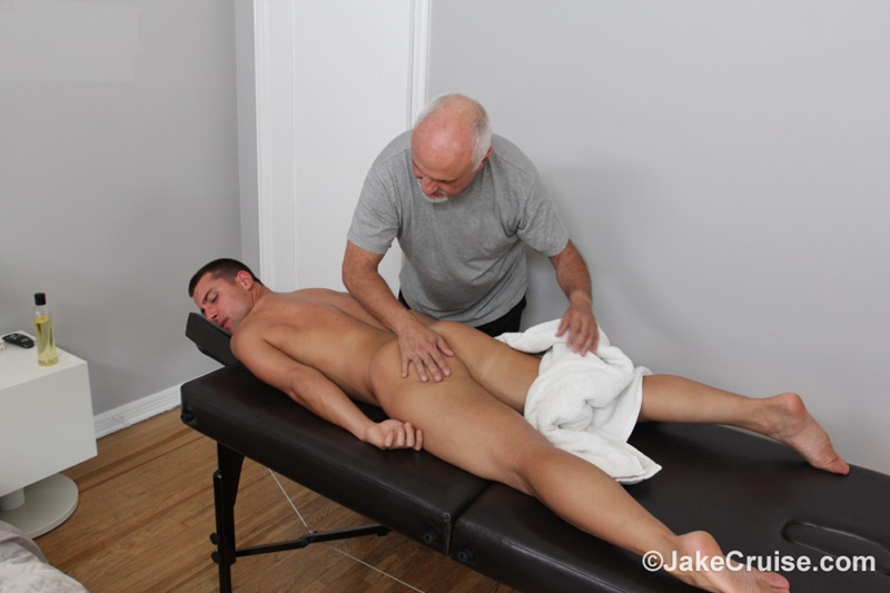 JakeCruise Sexy young dude Wolfie Blue big thick cock massage older guy Jake Cruise masturbation mature for younger 007 gay porn sex gallery pics video photo - Sexy young dude Wolfie Blue massaged by older guy Jake Cruise