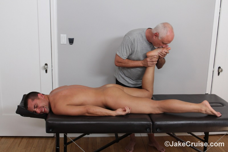 JakeCruise Sexy young dude Wolfie Blue big thick cock massage older guy Jake Cruise masturbation mature for younger 009 gay porn sex gallery pics video photo - Sexy young dude Wolfie Blue massaged by older guy Jake Cruise