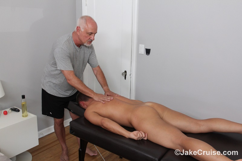 JakeCruise Sexy young dude Wolfie Blue big thick cock massage older guy Jake Cruise masturbation mature for younger 010 gay porn sex gallery pics video photo - Sexy young dude Wolfie Blue massaged by older guy Jake Cruise