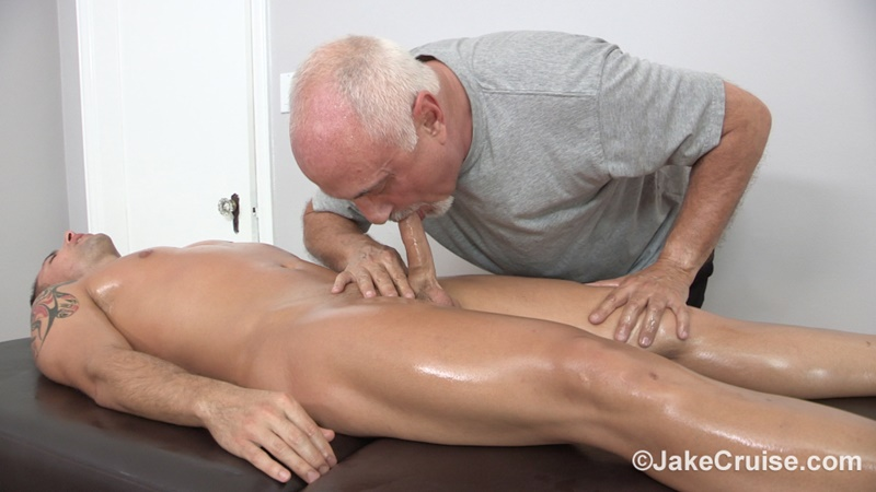 JakeCruise Sexy young dude Wolfie Blue big thick cock massage older guy Jake Cruise masturbation mature for younger 021 gay porn sex gallery pics video photo - Sexy young dude Wolfie Blue massaged by older guy Jake Cruise