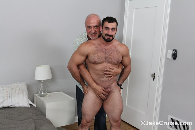 JakeCruise hairy chest naked big muscle dude Jaxton Wheeler big dick sucked Jake Cruise mature older guy younger blowjob 010 gay porn sex gallery pics video photo - Jaxton Wheeler's big dick serviced by Jake Cruise