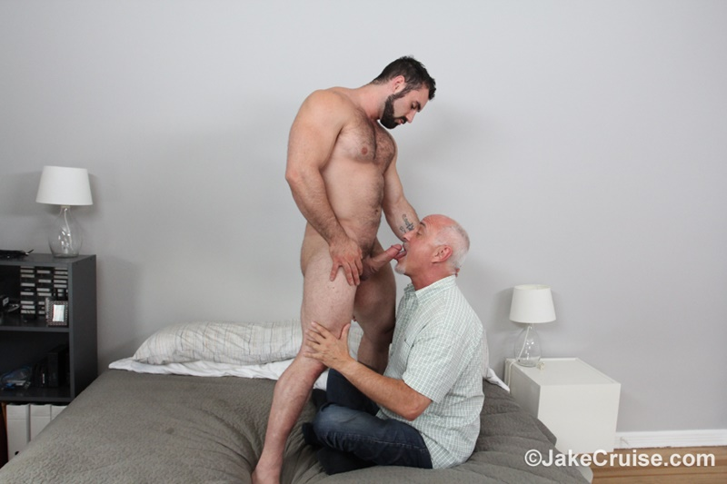 JakeCruise hairy chest naked big muscle dude Jaxton Wheeler big dick sucked Jake Cruise mature older guy younger blowjob 018 gay porn sex gallery pics video photo - Jaxton Wheeler's big dick serviced by Jake Cruise