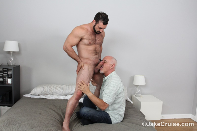 JakeCruise hairy chest naked big muscle dude Jaxton Wheeler big dick sucked Jake Cruise mature older guy younger blowjob 022 gay porn sex gallery pics video photo - Jaxton Wheeler's big dick serviced by Jake Cruise