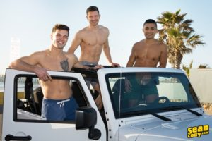 SeanCody sexy young muscle naked real couple Sean Cody Brysen Deacon Asher hardcore bareback ass fucking threesome raw bare big dicks 002 gay porn sex gallery pics video photo 300x200 - Hot all American hunk Adrian Monroe fucks Caden Carli's tight bubble butt ass