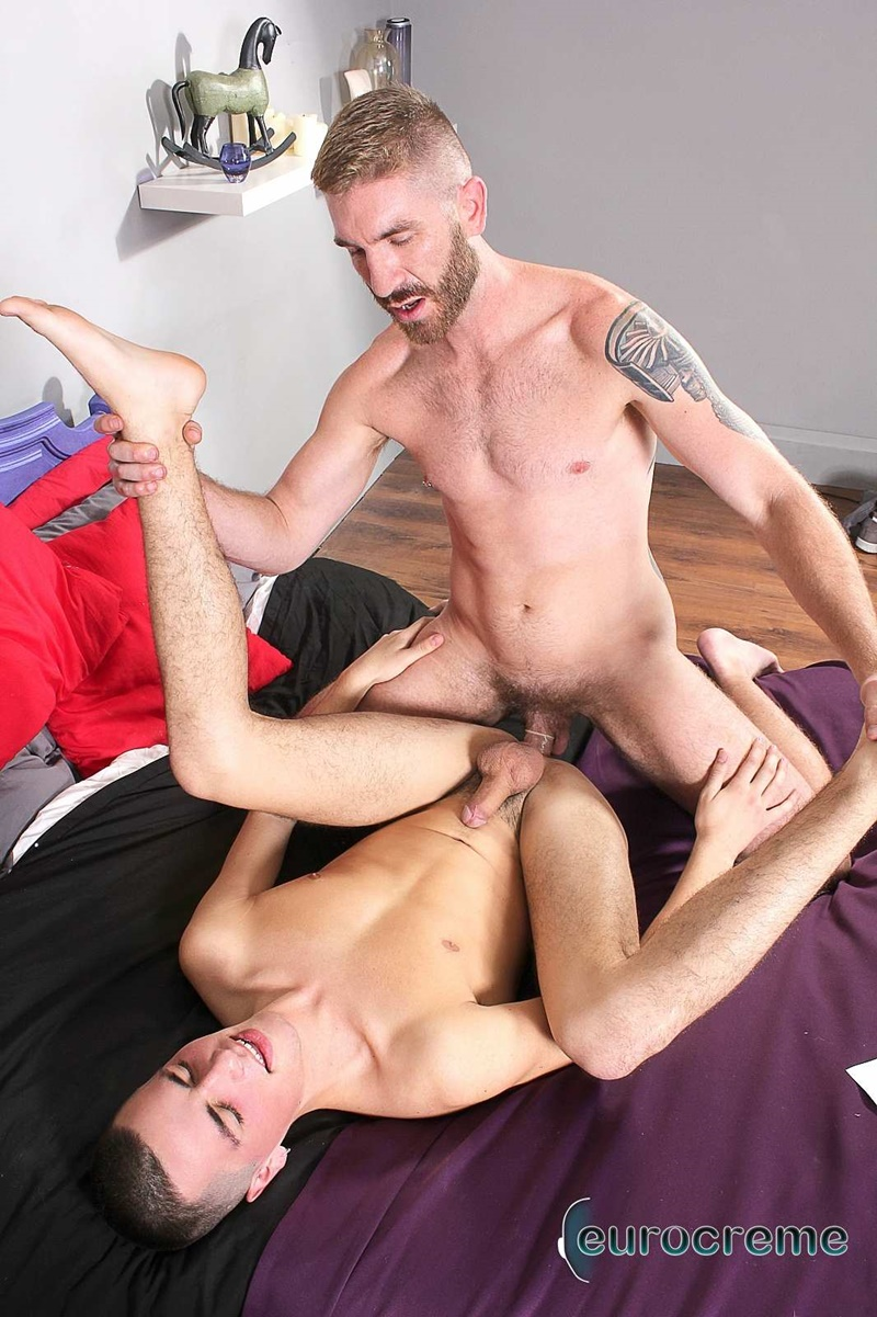 Eurocreme young hot naked dude Jack Raw ass fucked older mature guy Geoffrey Paine big thick dick sucking anal rimming 018 gay porn sex gallery pics video photo - Geoffrey Paine teaches his twink Jack Raw all the moves in a hard fuck he'll never forget