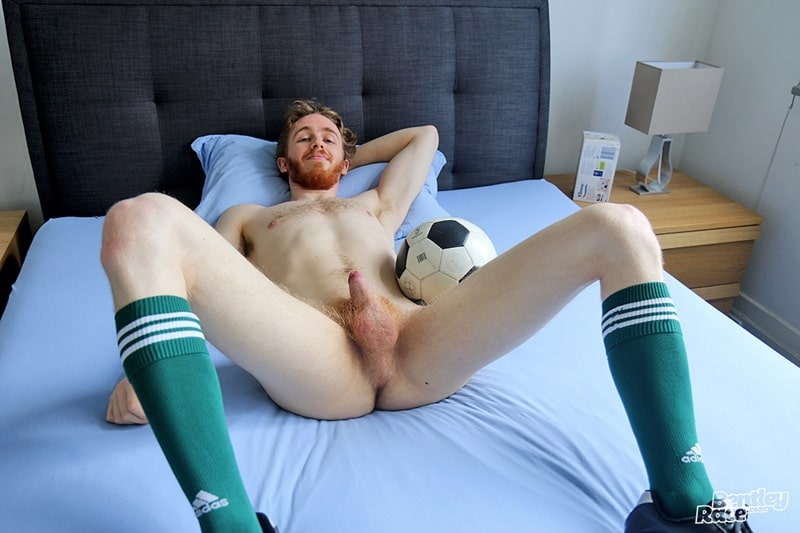 BentleyRace hot ripped young Aussie Tomas Kyle strips naked dude jerks huge cock massive cumshot soccer kit socks 001 gay porn sex gallery pics video photo - 25 year old Aussie Tomas Kyle strips and jerks his huge cock to a massive cumshot
