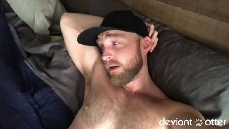 DeviantOtter Devan Totter ass hole training dildo anal sex toy hairy bearded young otter dude big thick large cock solo jerkoff 002 gay porn sex gallery pics video photo 768x432 - Deviant Otter retraining my ass hole