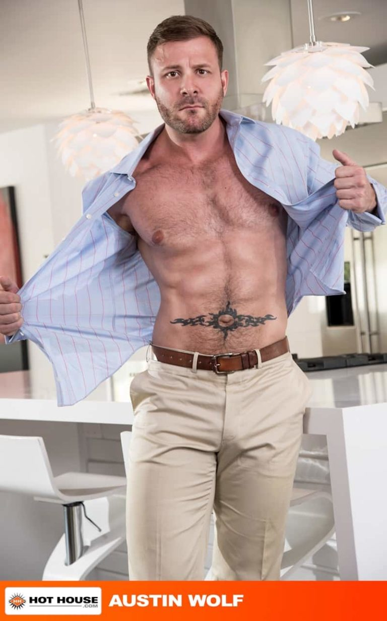Hothouse gay porn hairy chest hunk sex pics Austin Wolf big thick cock husband Beaux Banks tight asshole fucking anal 002 gay porn sex gallery pics video photo 768x1232 - Austin Wolf slides his wet cock deep inside husband Beaux Banks' tight asshole