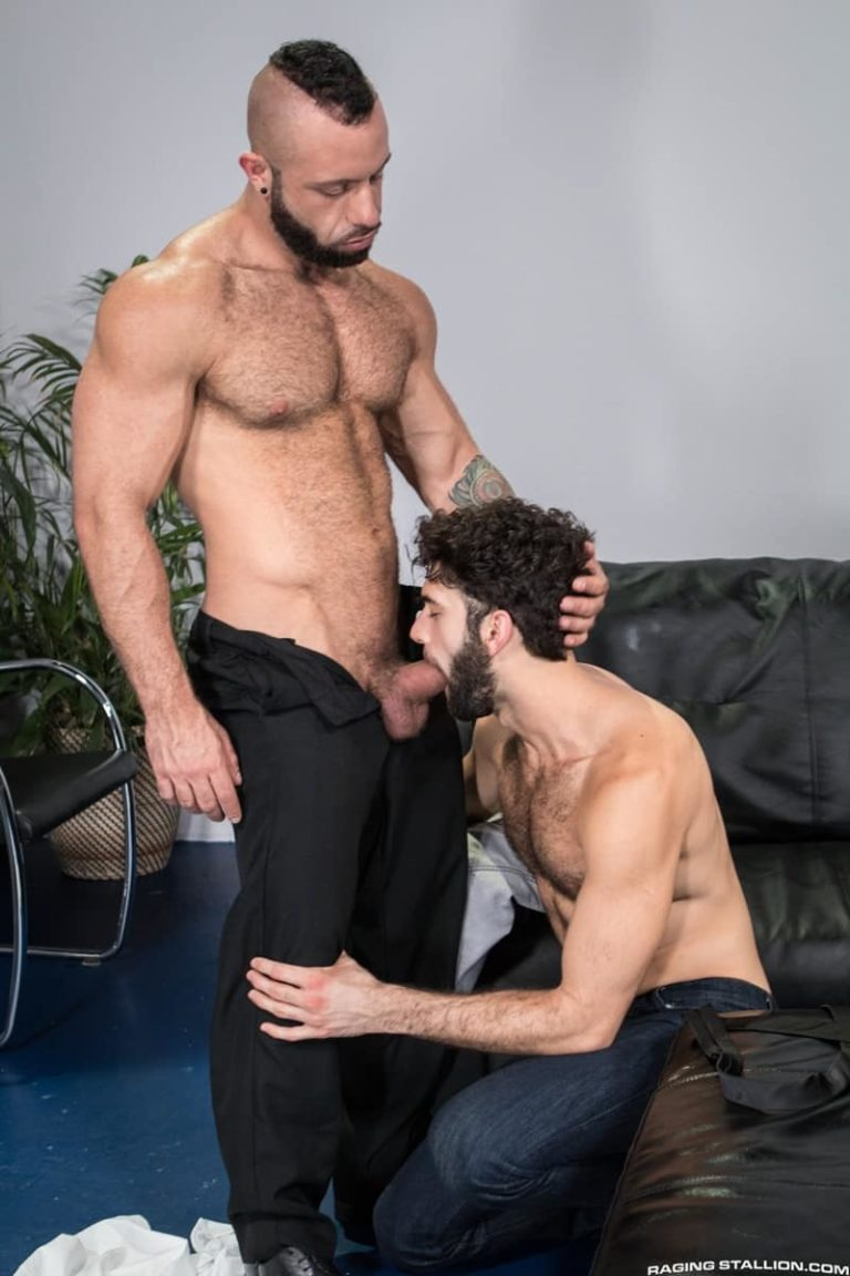 RagingStallion gay porn hairy chest muscle hunk big thick dick sex pics Tegan Zayne man hole fucking Eddy Ceetee cocksucking 001 gay porn sex gallery pics video photo 768x1152 - Tegan Zayne's hairy man hole takes a long and frenzied pounding from Eddy Ceetee's huge dick