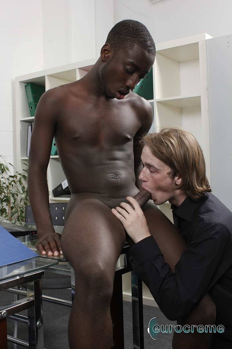 Eurocreme gay porn interracial ass fucking anal rimming sex pics Drew rimjob Max smooth ass hole big black dick 002 gallery video photo - Drew rims Max's smooth ass hole getting it ready for his big black dick