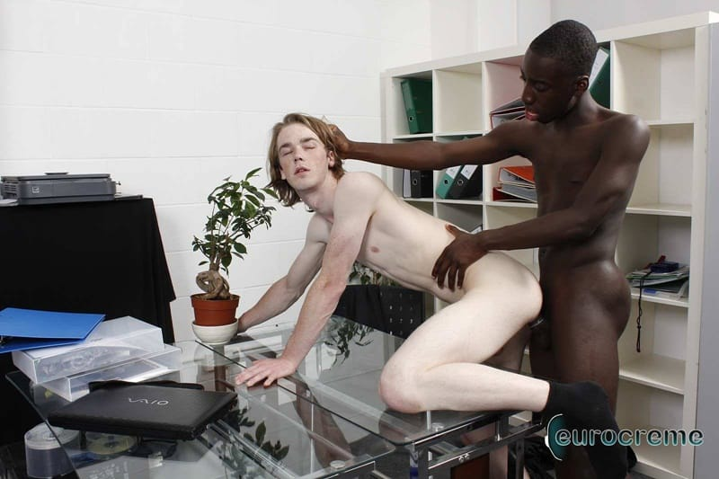 Eurocreme gay porn interracial ass fucking anal rimming sex pics Drew rimjob Max smooth ass hole big black dick 006 gallery video photo - Drew rims Max's smooth ass hole getting it ready for his big black dick