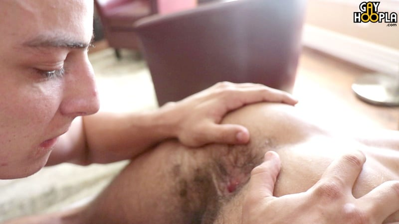 GayHoopla gay all american big dick sucking sex pics Trevor Brown first time anal tight ass fucking Bradley Whitman 014 gallery video photo - Trevor Brown's first time his tight ass gets a fucking by Bradley Whitman's huge American dick