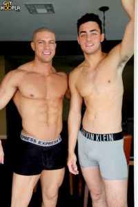 GayHoopla gay porn ripped six pac abs naked muscle hunk sex pics Nick Harper Sean Costin curved big dick mushroom head 002 gallery video photo 200x300 - Nick Harper really likes Sean Costin's curved big dick and his big mushroom head