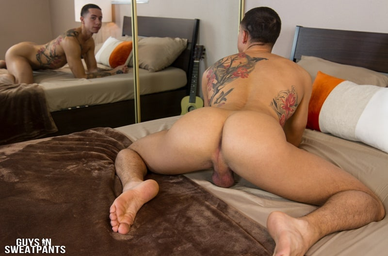 GuysinSweatpants gay porn long football socks Bottom boy rough sex pics Vincent top guy Judas big thick dick sucking 003 gallery video photo - Bottom boy Vincent loves getting roughed up while fucked by top guy Judas