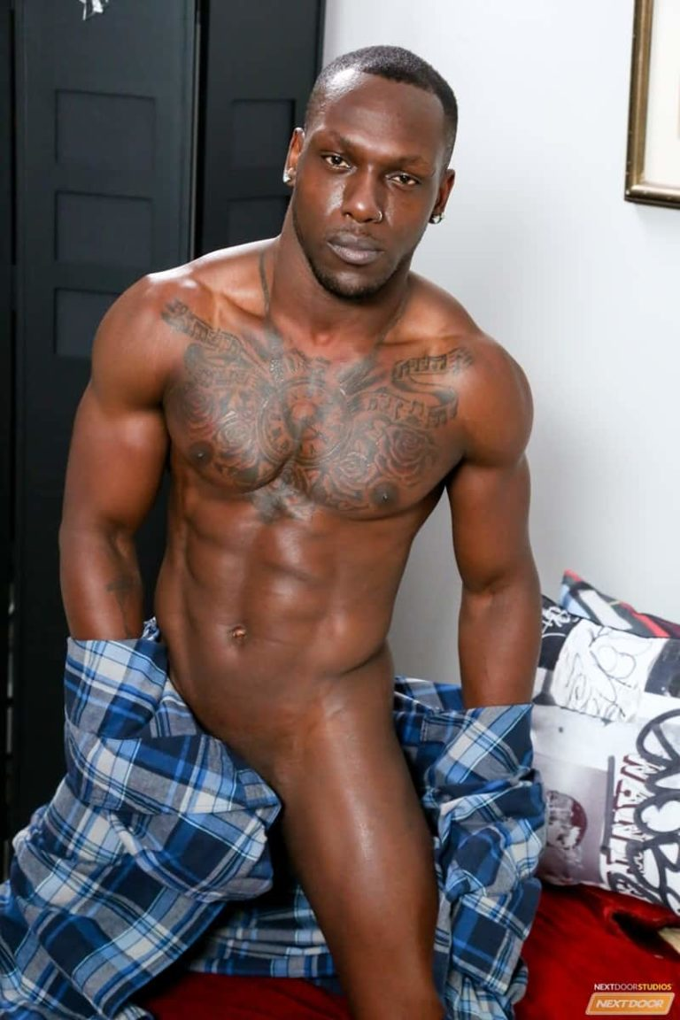 NextDoorEbony gay porn big black cocks sex pics Leo Brooks huge cock fucks Trent King smooth asshole 002 gallery video photo 768x1152 - Leo Brooks' huge cock fucks Trent King's smooth asshole from behind