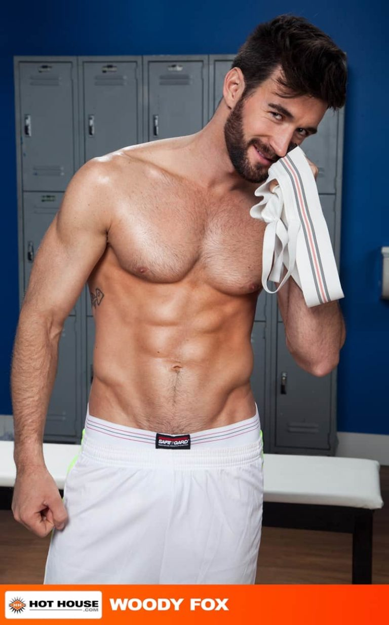 Hothouse gay porn naked sportsman sport socks locker room ass fucking sex pics Jack Hunter Woody Fox 002 gallery video photo 768x1232 - Locker room ass fucking Jack Hunter takes the full length of Woody Fox's massive cock