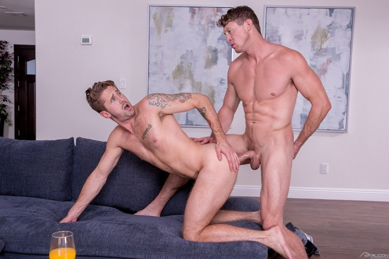 FalconStudios Wesley Woods big cock sucks Pierce Paris hung nude muscle stud anal rimming 013 gallery video photo - Wesley Woods pulls Pierce Paris' pants to his ankles and sucks the hung studs big dick