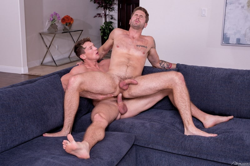 FalconStudios Wesley Woods big cock sucks Pierce Paris hung nude muscle stud anal rimming 015 gallery video photo - Wesley Woods pulls Pierce Paris' pants to his ankles and sucks the hung studs big dick
