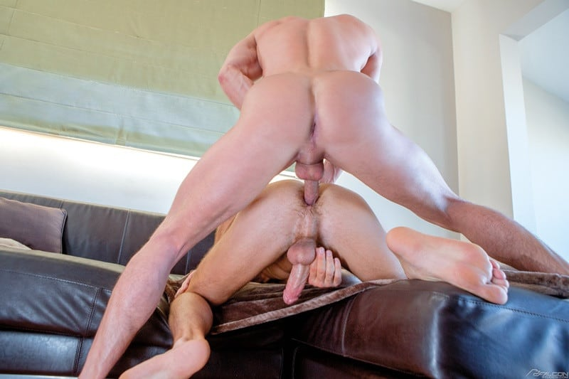 FalconStudios ripped naked dudes Skyy Knox Max Adonis hairy chest pubic bush six pack abs anal rimming 011 gallery video photo - Skyy Knox can't control his urges and reaches into Max Adonis' underwear to feel his hairy crotch