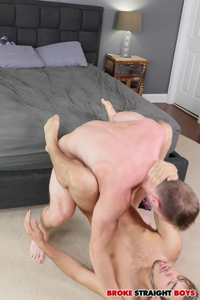 BrokeStraightBoys Brandon Evans Grey Donovan floppy long hair naked dudes sucking cock fucking asshole 014 gay porn pictures gallery - Brandon Evans' balls slapping against Grey Donovan's dominated ass cheeks as he takes that big dick