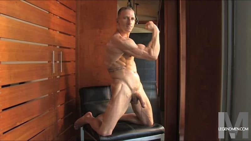 Brody Biggs ripped big muscle body jerks huge dick massive load cum LegendMen 008 gay porn pictures gallery - Brody Biggs