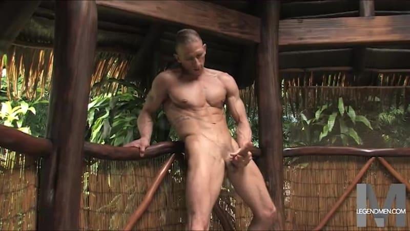Brody Biggs ripped big muscle body jerks huge dick massive load cum LegendMen 011 gay porn pictures gallery - Brody Biggs