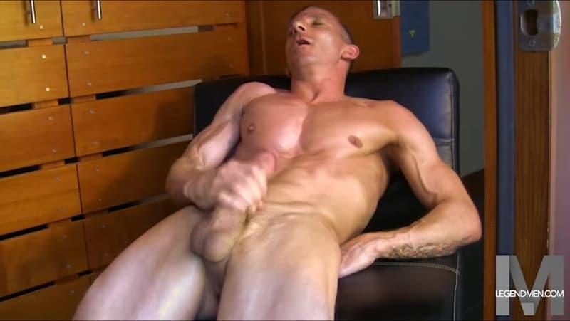 Brody Biggs ripped big muscle body jerks huge dick massive load cum LegendMen 012 gay porn pictures gallery - Brody Biggs