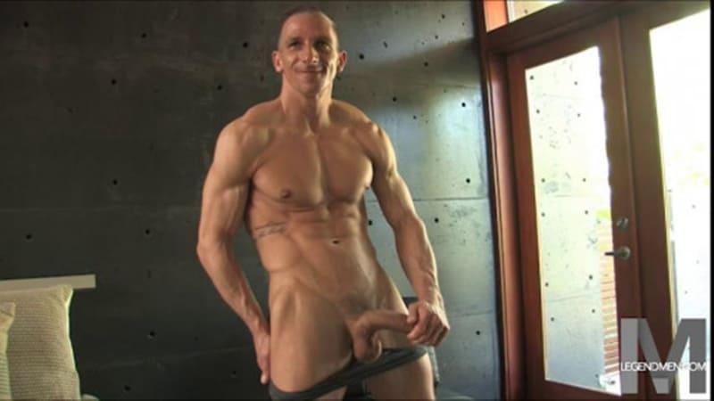 Brody Biggs ripped big muscle body jerks huge dick massive load cum LegendMen 016 gay porn pictures gallery - Brody Biggs