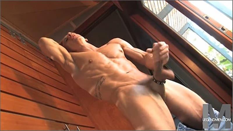 Brody Biggs ripped big muscle body jerks huge dick massive load cum LegendMen 023 gay porn pictures gallery - Brody Biggs