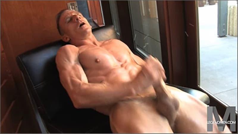 Brody Biggs ripped big muscle body jerks huge dick massive load cum LegendMen 024 gay porn pictures gallery - Brody Biggs